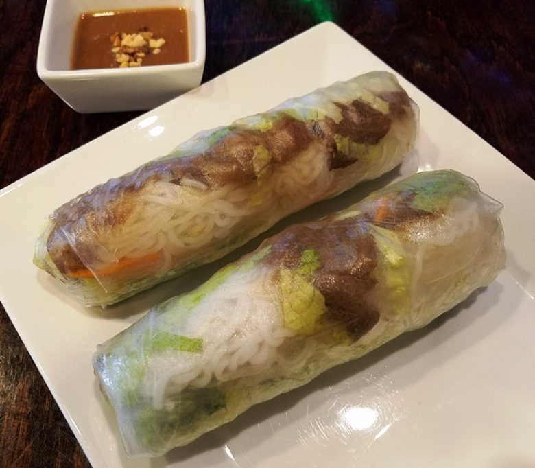 Summer rolls with grilled beef at Anise Pho, Raleigh - nctriangledining.com