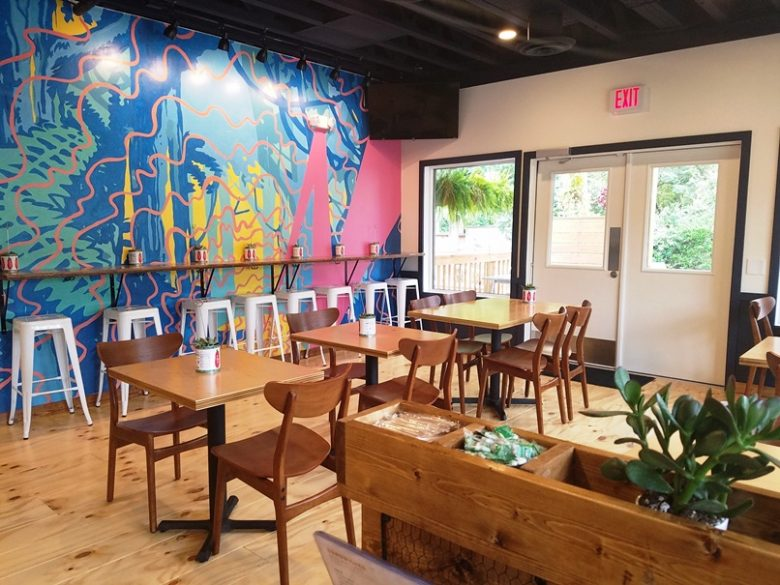 Bright dining room at Eastcut Sandwich Bar in Durham - nctriangledining.com