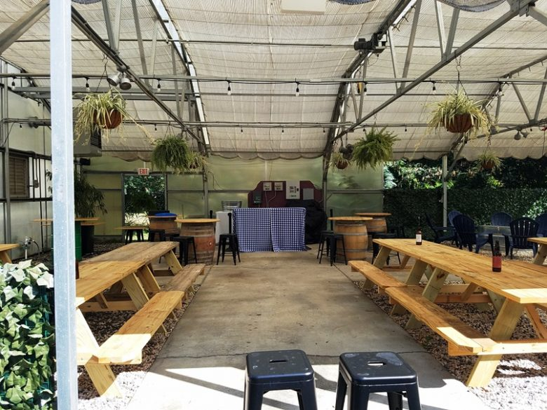 Covered patio at Eastcut Sandwich Bar in Durham - nctriangledining.com