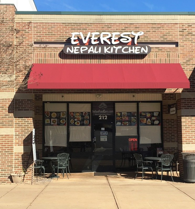 Front of Everest Nepali Kitchen in Cary - nctriangledining.com