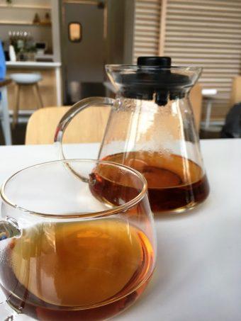 Brewed tea at Heirloom Brewshop in Raleigh - nctriangledining.com