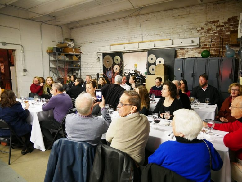Happy diners at Feast from the Furnace at Liberty Arts in Durham - nctriangledining.com