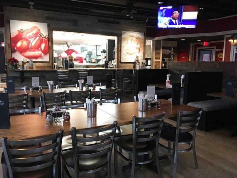 Kitchen window at Pizza La Stella in Cary - nctriangledining.com