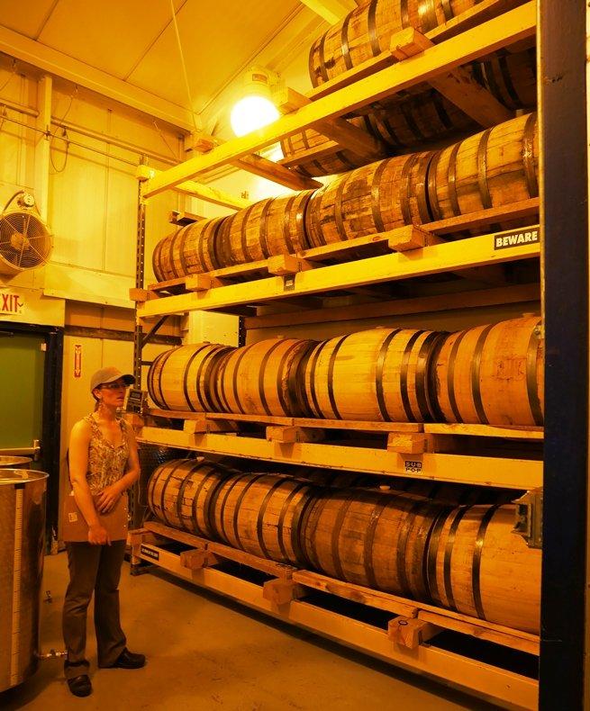 Barrel aging at Fair Game Beverage in Pittsboro - nctriangledining.com