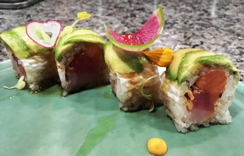Rainbow roll at Sushi Mon in Raleigh - nctriangledining.com