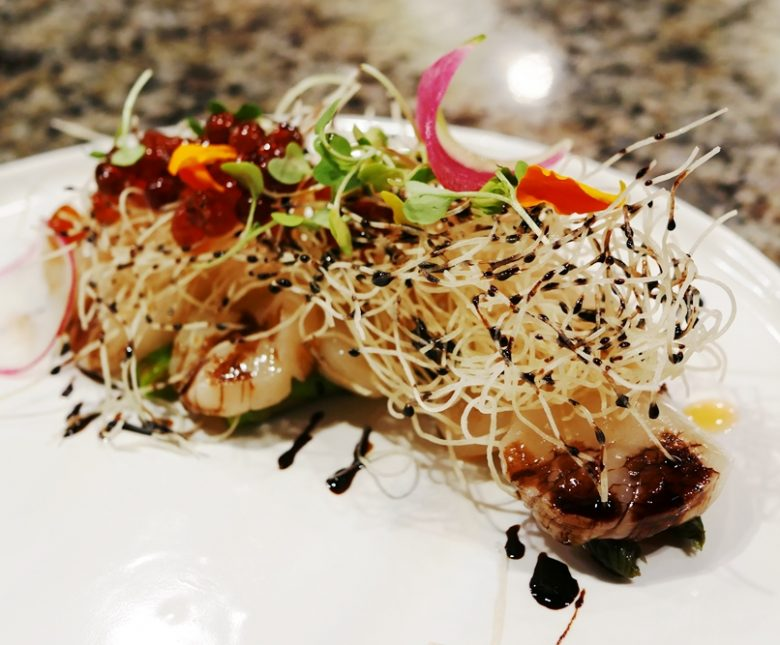 Hokkaido scallops tiradito at Sushi Mon in Raleigh - nctriangledining.com