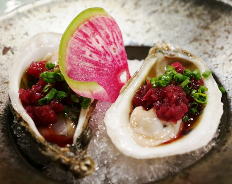 Oysters with oriental salsa at Sushi Mon in Raleigh - nctriangledining.com