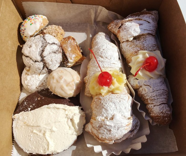 Cookies and lobster tail pastries at Utica Bakery in Apex - nctriangledining.com