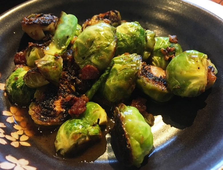 Seared brussels sprouts at M Pocha in Durham - nctriangledining.com