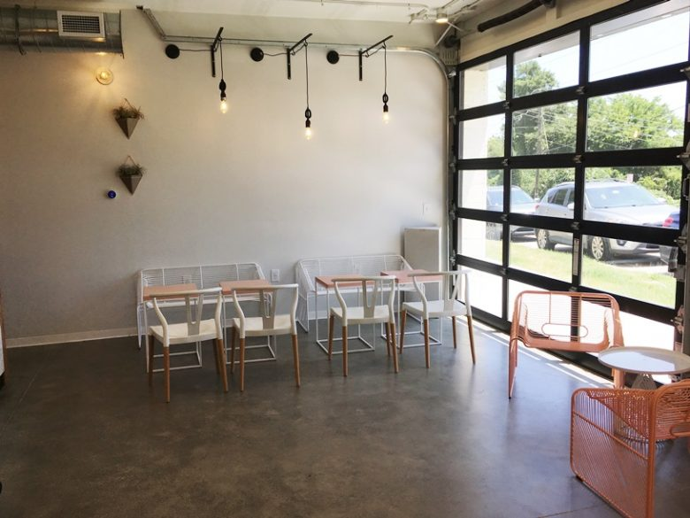 Seating area at Layered Croissanterie in Raleigh - nctriangledining.com