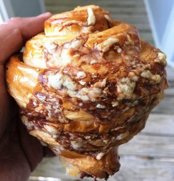 Ham and gruyere croissant at Layered Croissanterie - nctriangledining.com