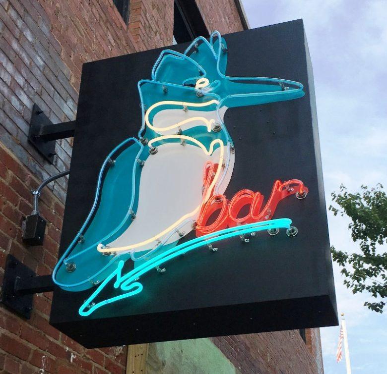 Neon sign for Kingfisher Bar in Durham - nctriangledining.com