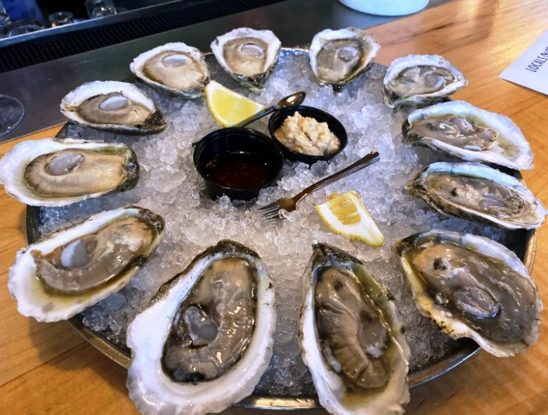 Oysters on the half-shell at Locals Oyster Bar in Raleigh - nctriangledining.com