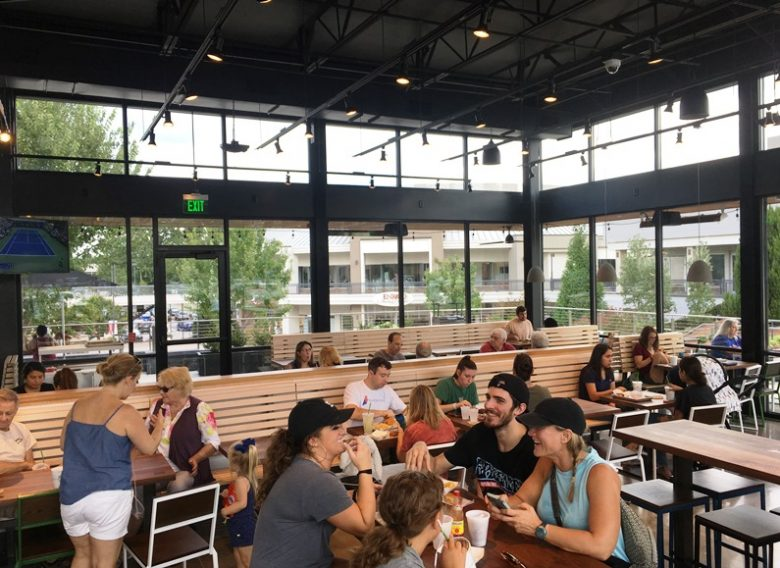 Dining area at Shake Shack in Cary - nctriangledining.com