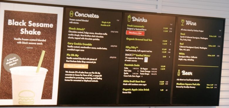 Shake Shack menu in Cary - nctriangledining.com