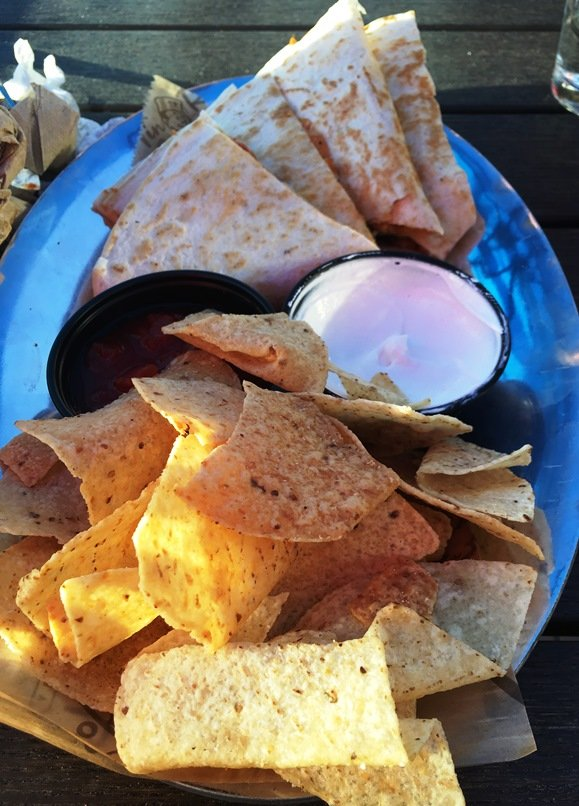 South by Southwest quesadilla at Tin Roof in Raleigh - nctriangledining.com