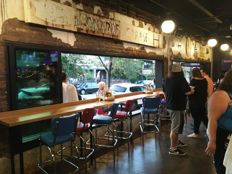 Sidewalk seating at Tin Roof in Raleigh - nctriangledining.com