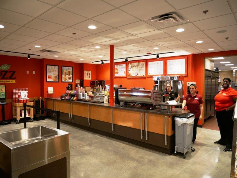 Coffee bar at Wegmans in Raleigh - nctriangledining.com