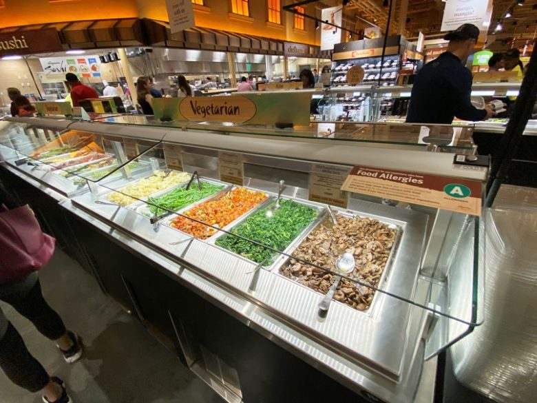 Prepared foods bar at Wegmans in Raleigh - nctriangledining.com