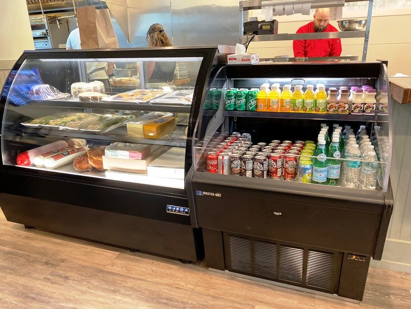 Deli meats and soda case at Reuben's NY Deli in Raleigh - nctriangledining.com