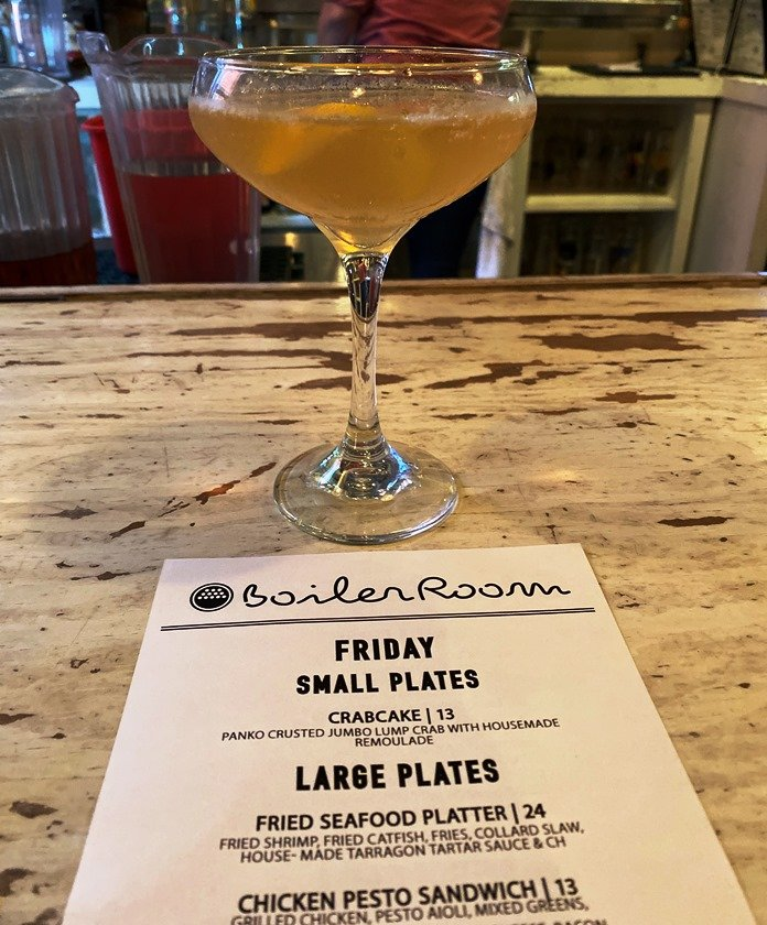 Cocktail time at the Boiler Room in Kinston - nctriangledining.com