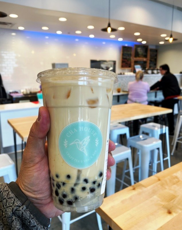 Boba milk tea at Cha House in Raleigh - nctriangledining.com