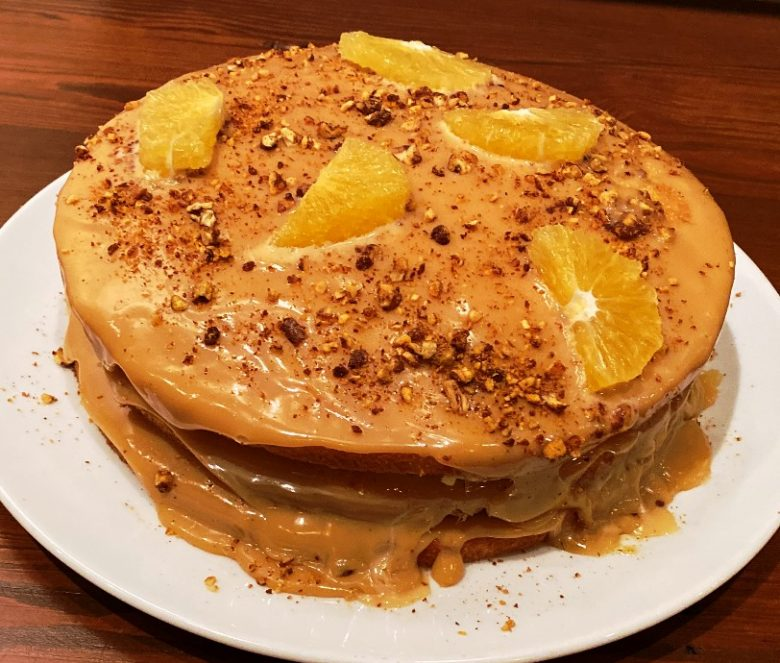 Dulce de leche layer cake at the Chef and the Farmer in Kinston, NC - nctriangledining.com