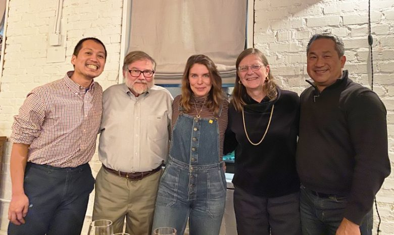 Our table with Chef Vivian Howard at the Chef and the Farmer in Kinston, NC - nctriangledining.com