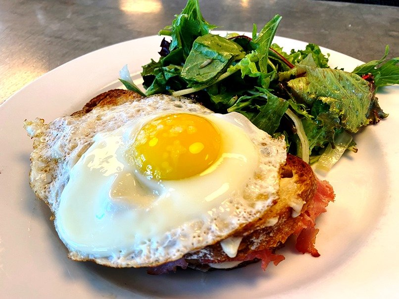 Croque madame at Coquette in Raleigh - nctriangledining.com