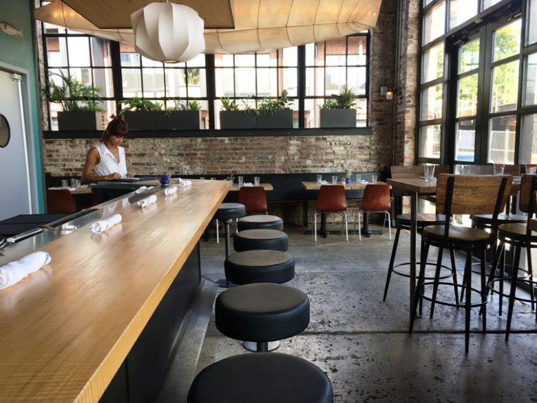 Dining room at Locals Oyster Bar in Raleigh - nctriangledining.com