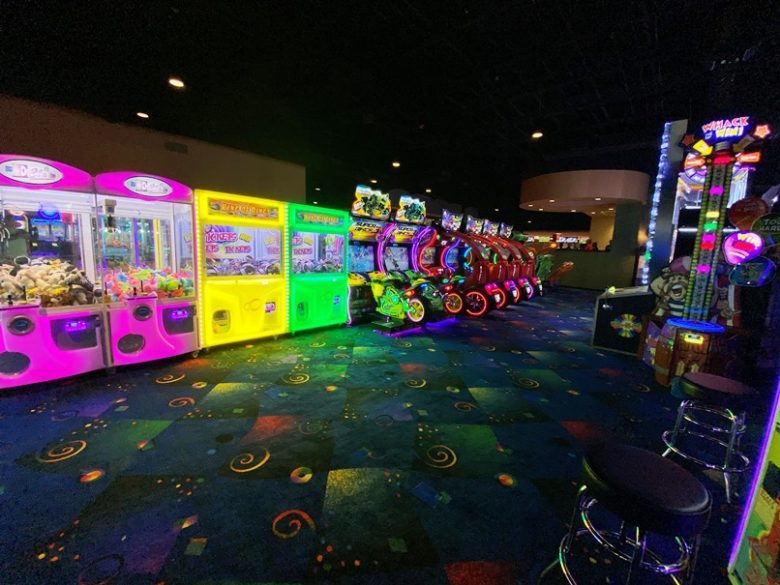 Arcade at Stars and Strikes in Raleigh -nctriangledining.com