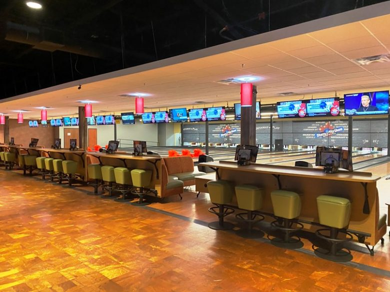 Bowling alley at Stars and Strikes in Raleigh -nctriangledining.com