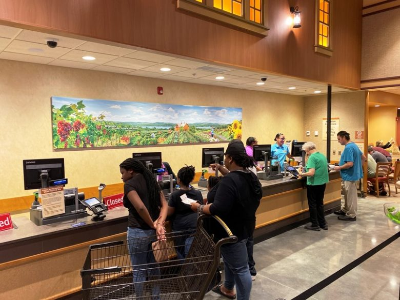 Dining area registers at Wegmans in Raleigh - nctriangledining.com