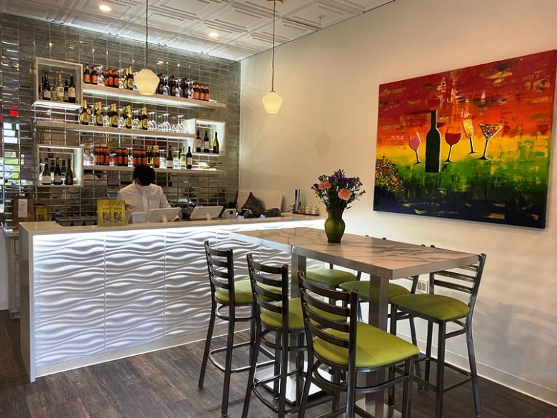 Bar area at Amber Flavors & Taste in W. Cary - nctriangledining.com