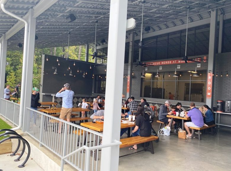 Covered patio at Prime Barbecue in Knightdale - nctriangledining.com