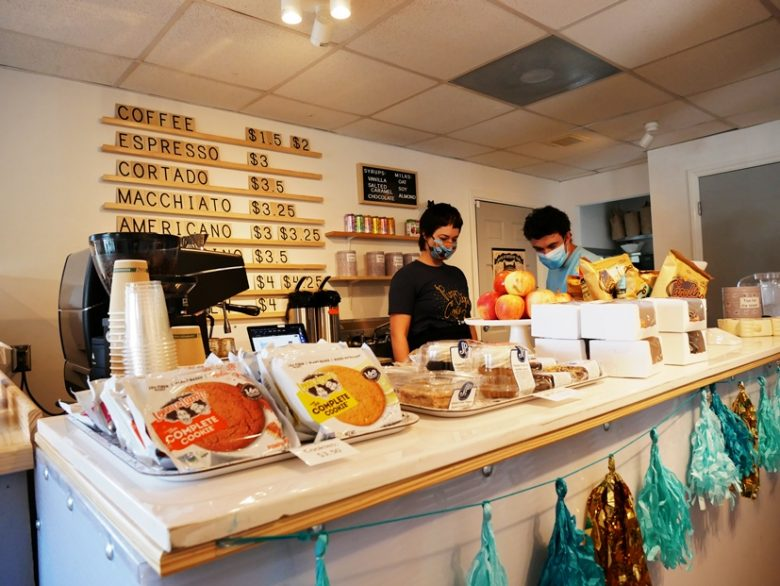 Coffee counter at Purr Cup Cafe in Raleigh - nctriangledining.com