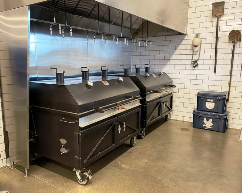 Commercial smokers at Prime Barbecue in Knightdale - nctriangledining.com
