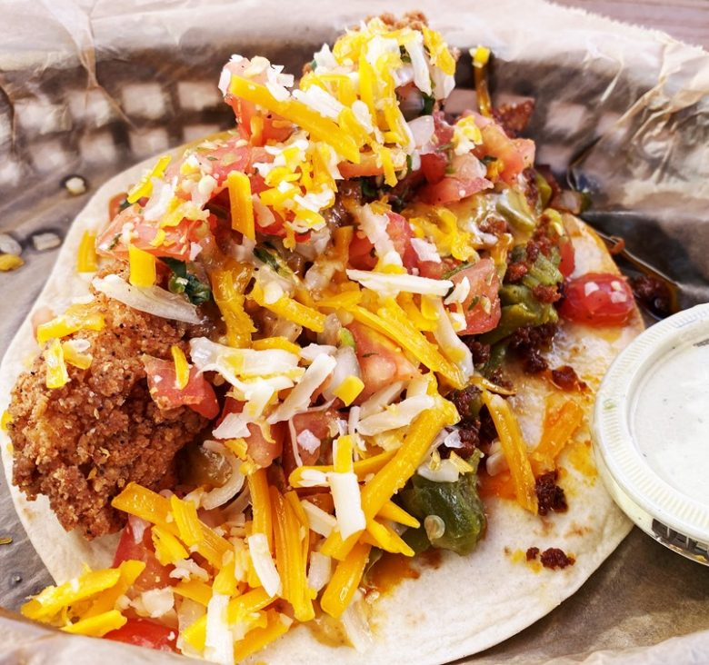 Trailer Park taco Hillbilly style at Torchy's Midtown East in Raleigh - nctriangledining.com