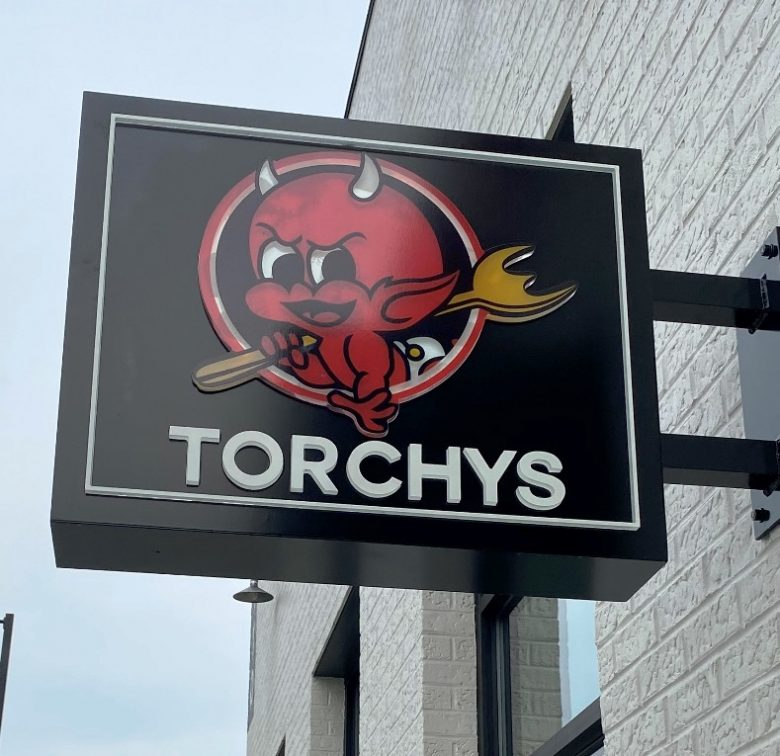 Signage at future Torchys Tacos at Midtown East in Raleigh - nctriangledining.com