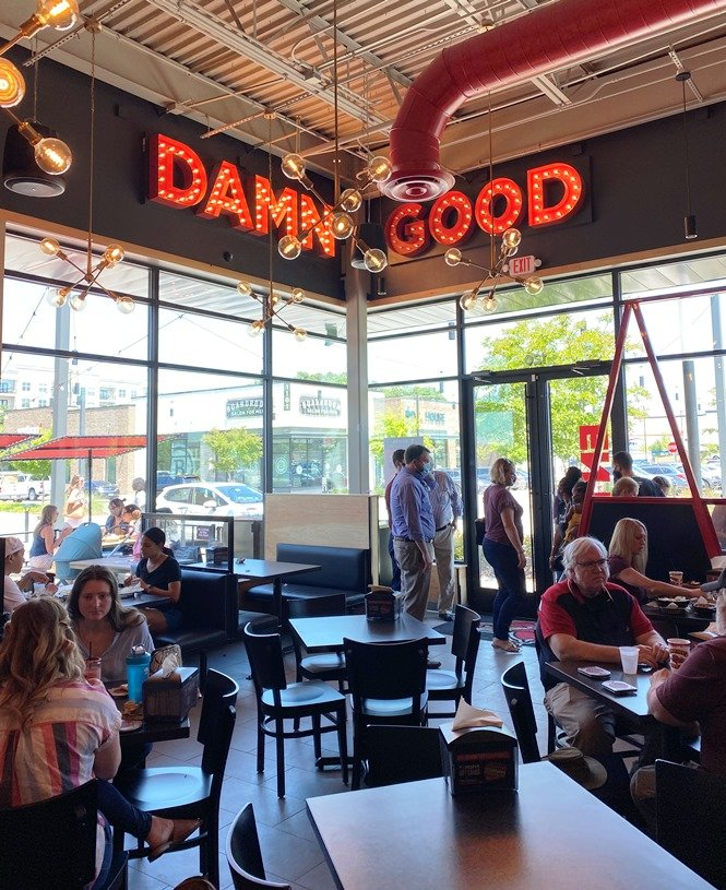 Dining interior at Torchy's Tacos in Raleigh - nctriangledining.com