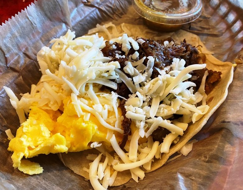 Wrangler breakfast taco at Torchy's Tacos in Raleigh - nctriangledining.com