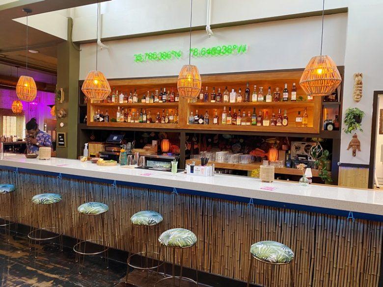 Tiki bar at Ark Royal in Raleigh - nctriangledining.com