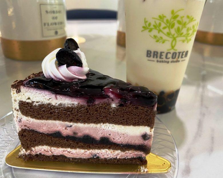 Blueberry chocolate cake at Brecotea Baking Studio in Cary - nctriangledining.com