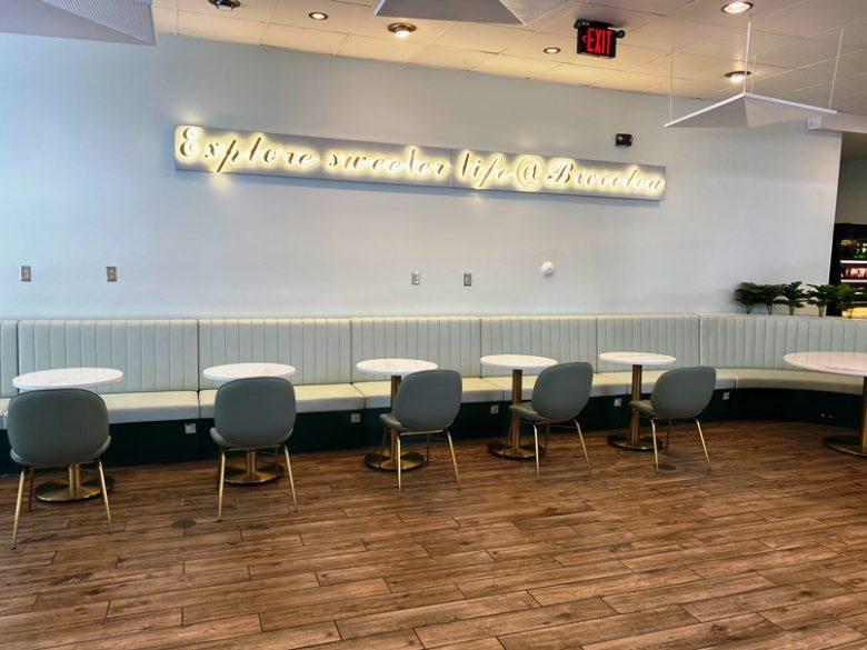 Seating at Brecotea Baking Studio in Cary - nctriangledining.com