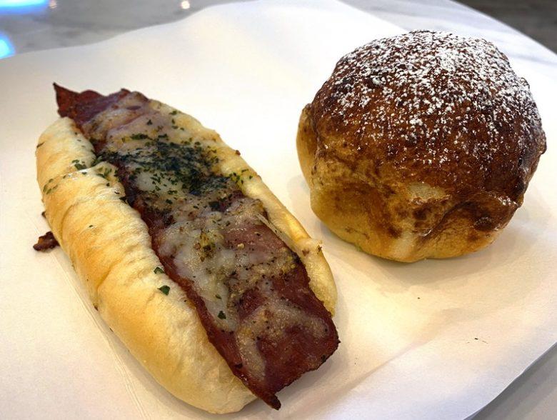 Bacon stick and peanut-chocolate bun at Brecotea Baking Studio in Cary - nctriangledining.com