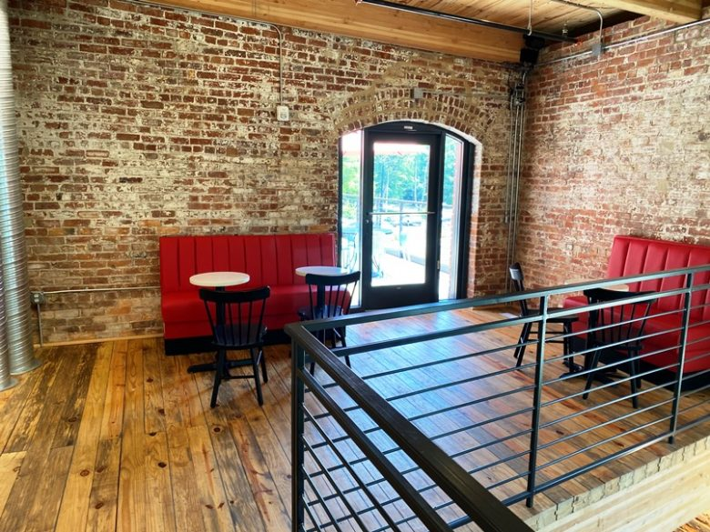 2nd floor dining area at Two Roosters, Durham - nctriangledining.com