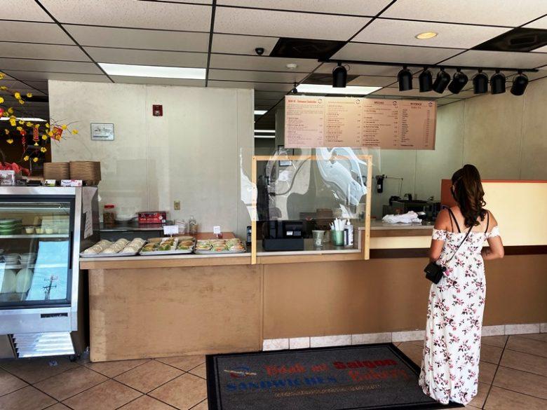 Order counter at Banh Mi Saigon Sandwiches in Greensboro - nctriangledining.com