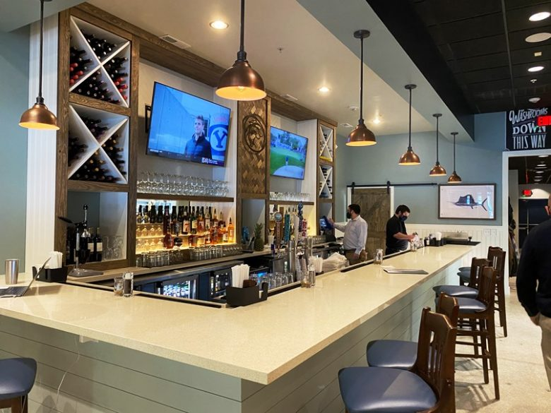 Bar area at Cape Fear Seafood Company in Raleigh - nctriangledining.com