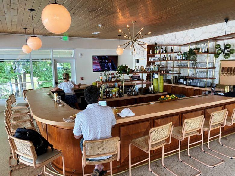 Bar area at Hello Sailor in Cornelius, NC near Lake Davidson - nctriangledining.com