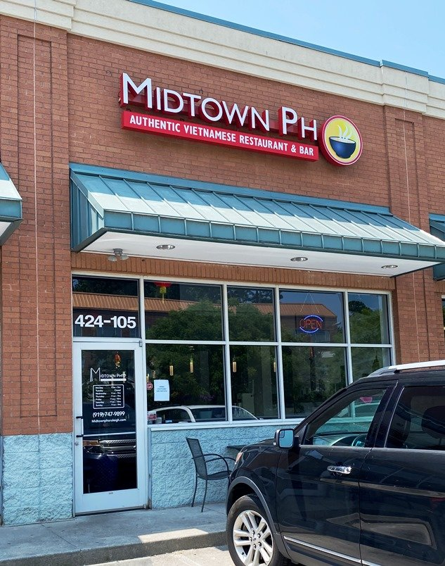 Front of Midtown Pho in Raleigh - nctriangledining.com